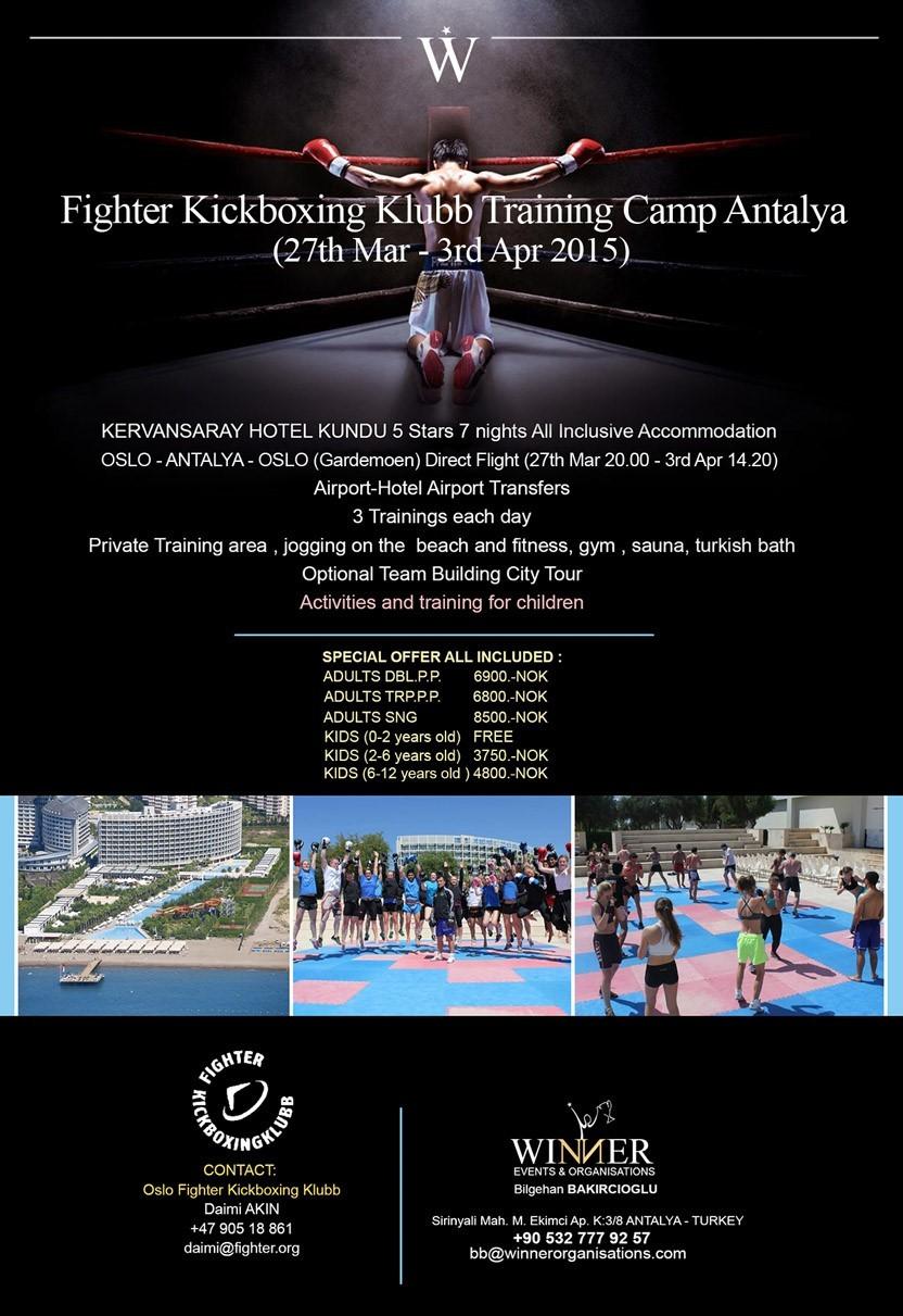 Fighter Kickboxing Training Camp Antalya 27 Th Mar 3 Rd Apr